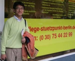 Japanischer Journalist besucht Pflegestützpunkt Berlin GmbH (Foto: Wachsmuth)